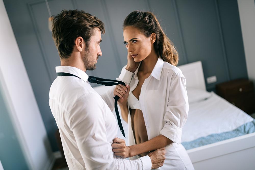 couple practicing BDSM